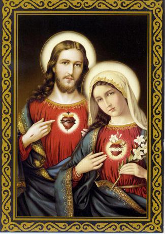 Imagem Jesus on Corazones De Jes  S Y Mar  A